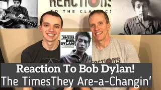 Bob Dylan - The Times They Are A-Changin' Reaction - Full Album Review! First Time Hearing!