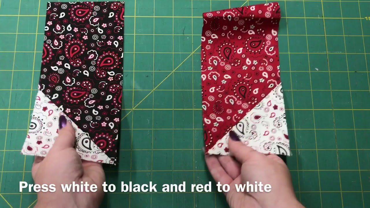 Large No Y-Seam Eight-Point Star Quilt Block Video Tutorial - The