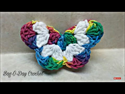 CROCHET How To #Crochet Easy 3D Butterfly #TUTORIAL Easy crochet tutorial #136 LEARN CROCHET