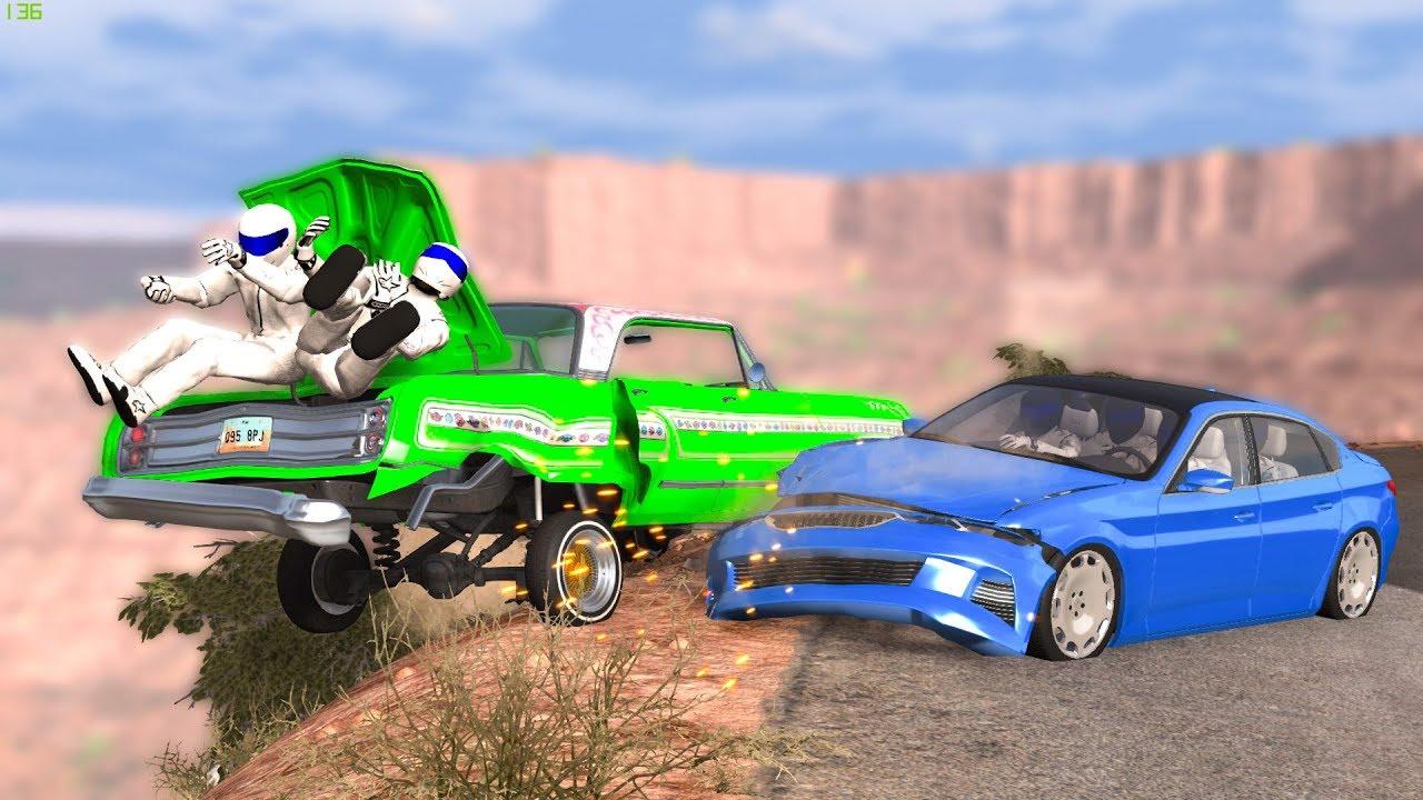 REALISTIC CLIFF DROPS #1 - BeamNG Drive   CRASHDriven
