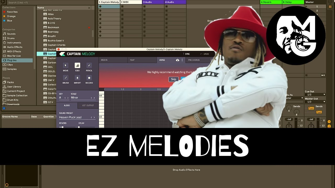 🎥 Captain Melody | EZ Melodies With Chords | Ableton Live - How To