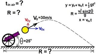Physics - Mechanics: Moтion In Two-Dimensions: (6 of 21) Finding the Range: An Example