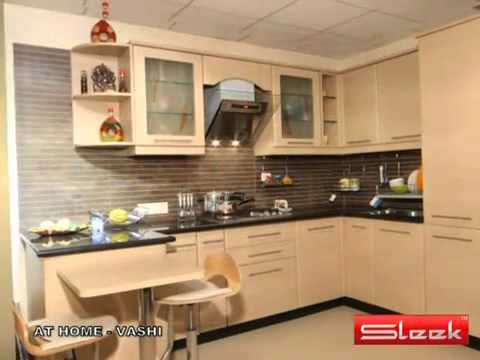 SLEEK KITCHENS - @ HOME VASHI - YouTube.flv - YouTube