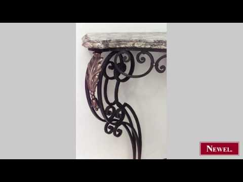 Antique French Victorian wrought iron scroll and filigree