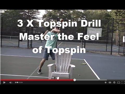 How to hit Massive Topspin: 3x Topspin Forehand Drill
