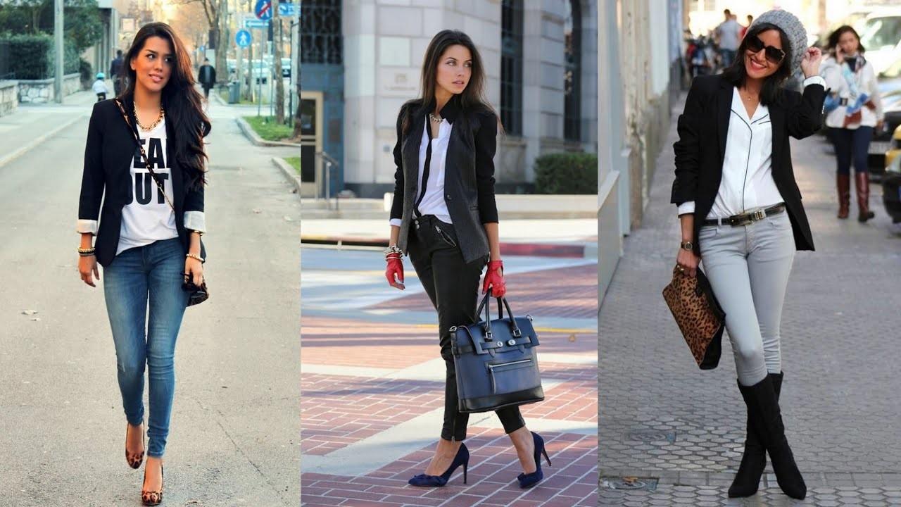17 Black Blazer Outfit Ideas - YouTube