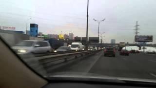 Дальнобойщики перекрыли МКАД Москва забастовка часть 4 - 04.12.15