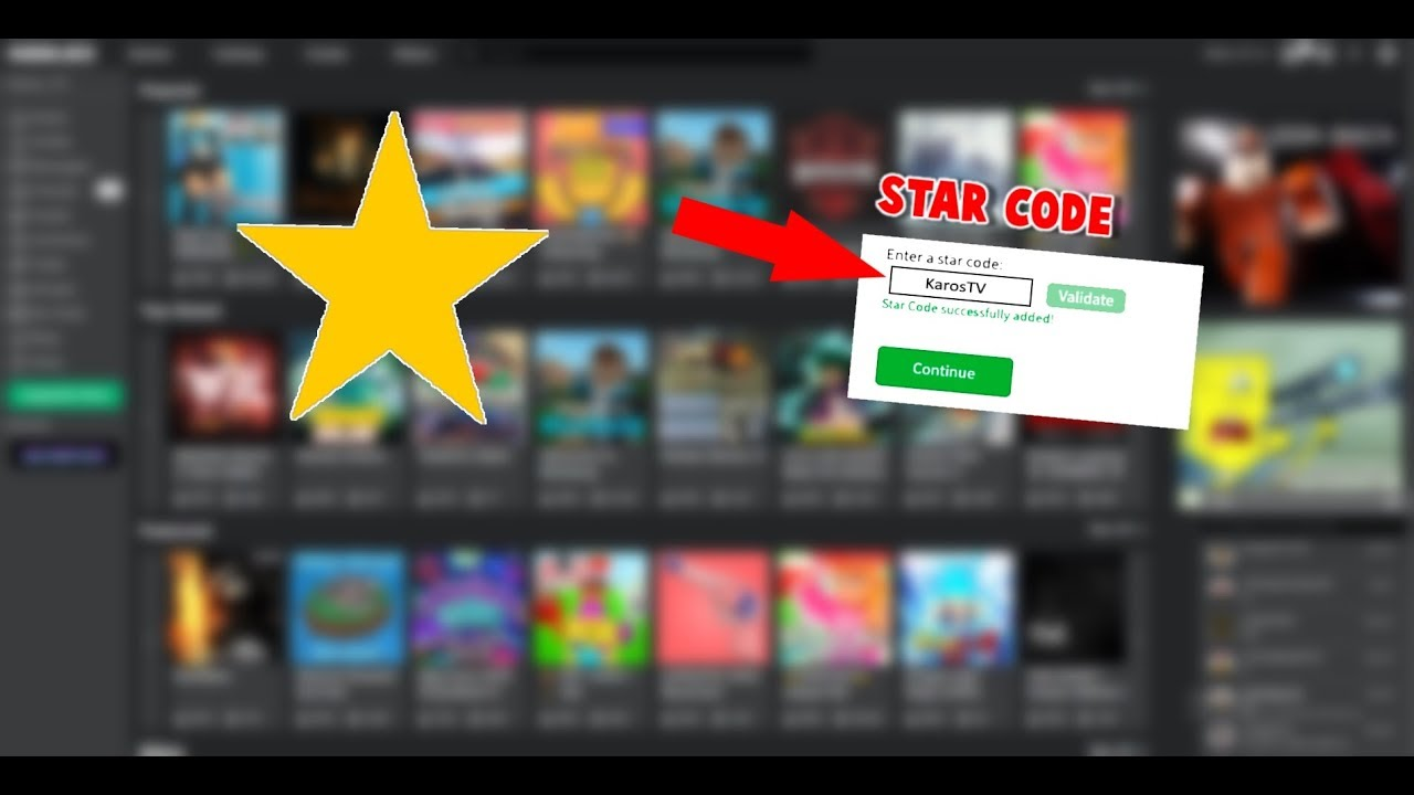 How To Use The Roblox Star Code Youtube