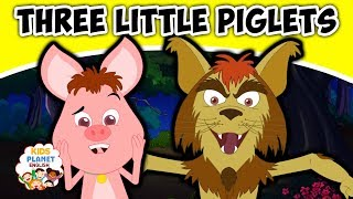 THREE LITTLE PIGLETS - English Fairy Tales | Bedtime Stories | English Cartoon For Kids