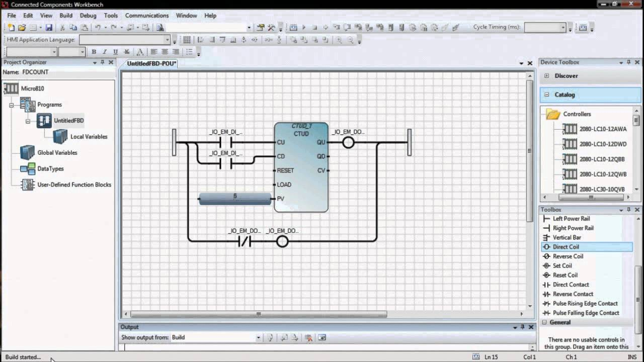 Counter PLC Using a Functional Block Diagram - YouTube