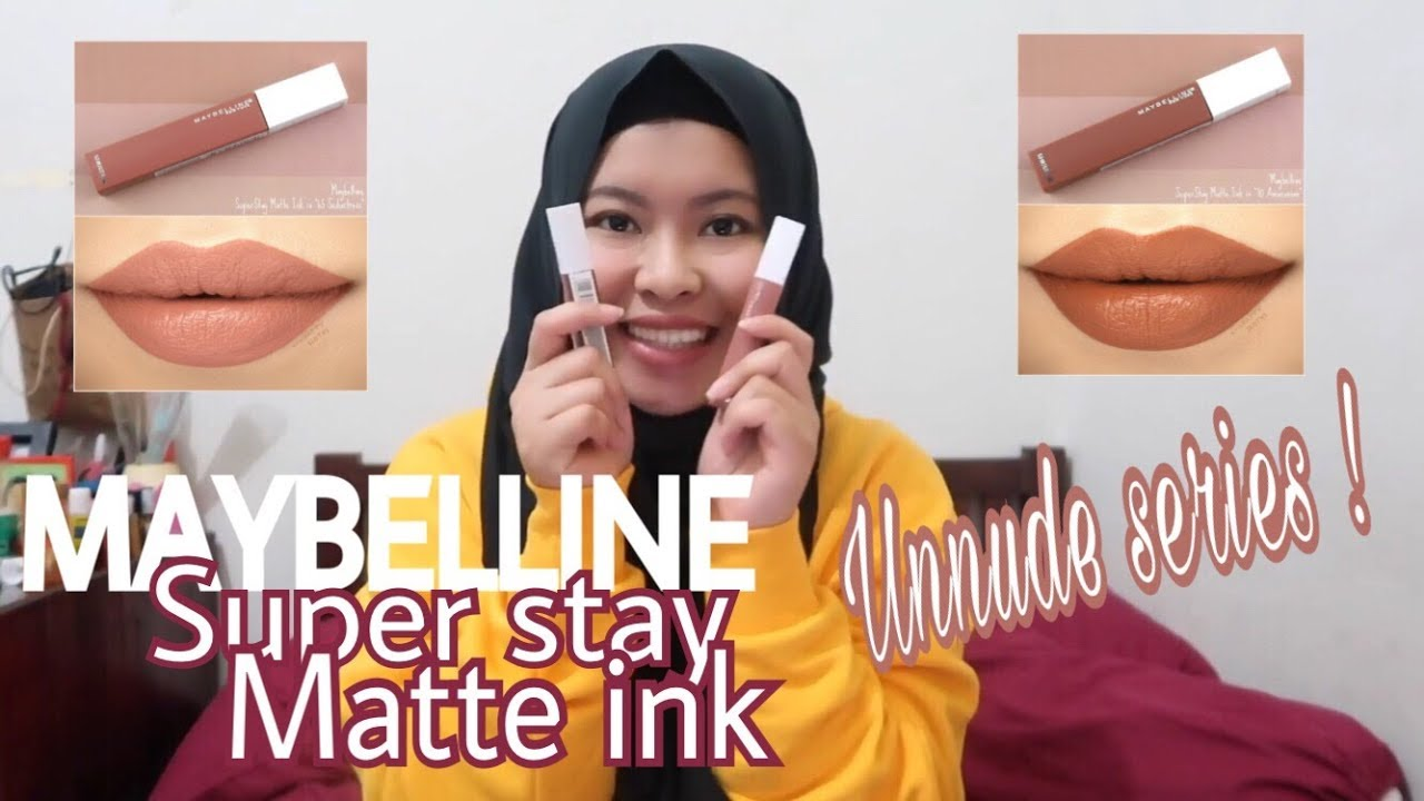 Review Swatch Maybelline Superstay Matte Ink Nude Series Bahasa Indonesia