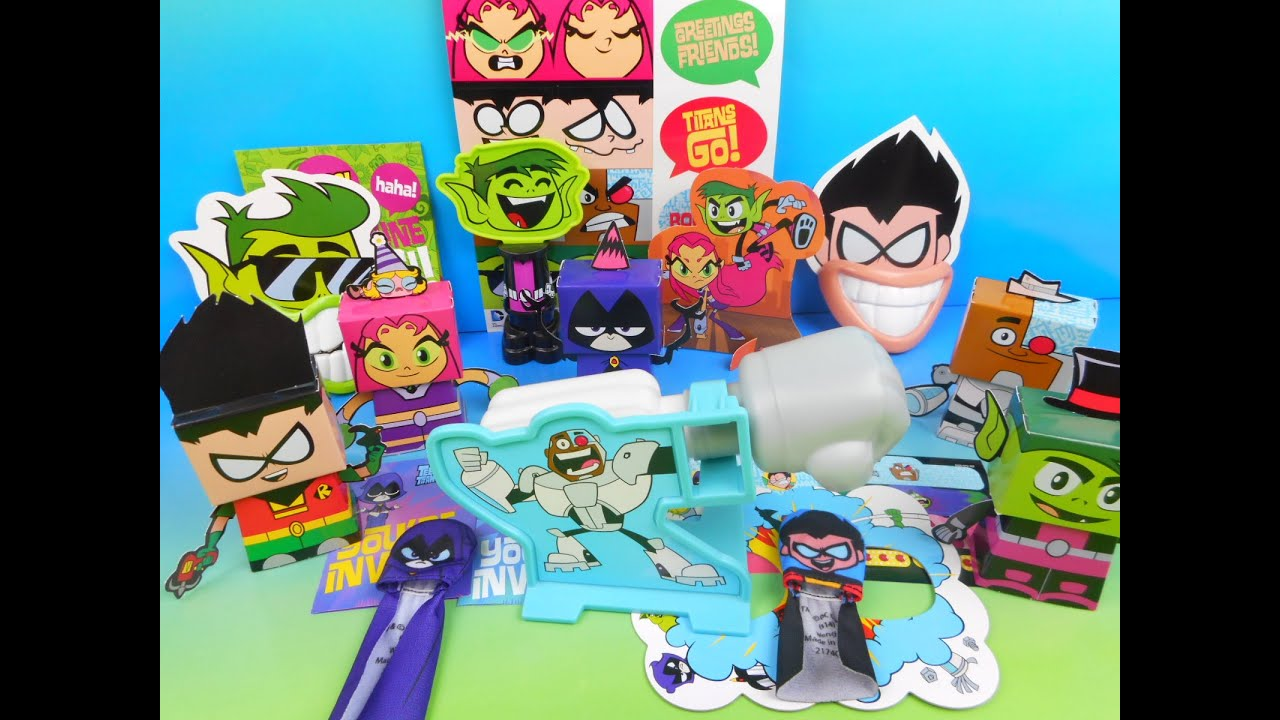 2015 TEEN TITANS GO! SET OF 5 WENDY'S KIDS MEAL TOY'S ...