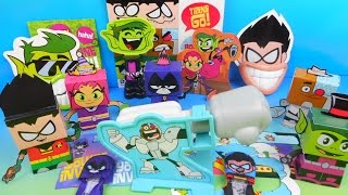 2015 TEEN TITANS GO SET OF 5 WENDY S KIDS MEAL TOY S VIDEO REVIEW