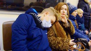 Эпидемия Гриппа Проявилась в Киевском Метро | PRANK
