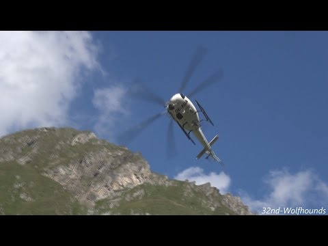 Awesome landing, Wucher - Eurocopter AS 350 B3 Ecureuil, OE-XGA, Austria.