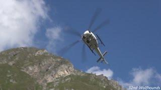 Awesome landing, Wucher - Eurocopter AS 350 B3 Ecureuil, OE-XGA, Austria.