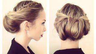 как сделать причёску с повязкой видео