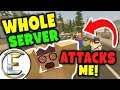 WHOLE SERVER ATTACKS ME AND HOLDS ME HOSTAGE! | Unturned Roleplay (Warning may hurt your ears)