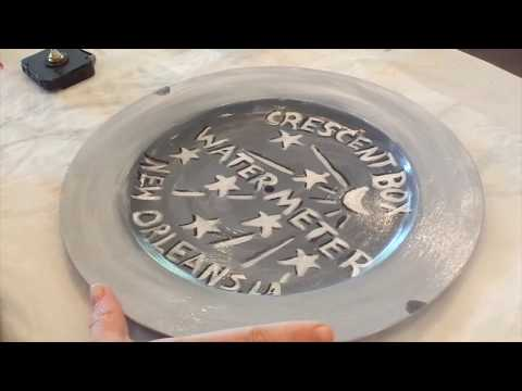 New Orleans Water Meter Clock Made with a Charger and Clock Kit