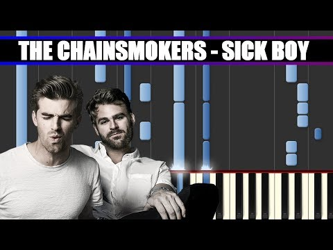 SICK BOY (The Chainsmokers) Piano Tutorial / Cover SYNTHESIA + MIDI & SHEETS