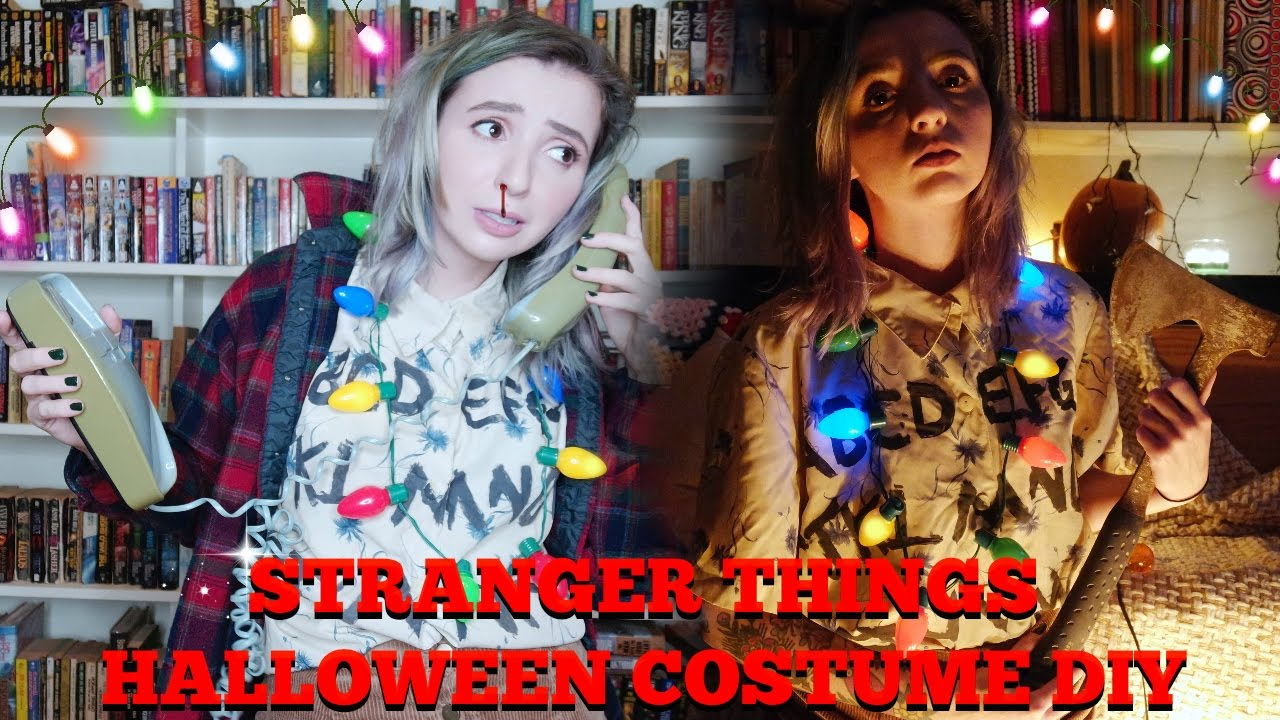Stranger Things House! Halloween Costume DIY! - YouTube