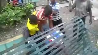 Funny Haitian fight in Dominican Republic