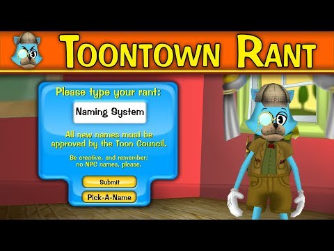 Toontown Rant: Naming System