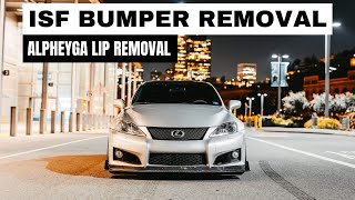 Lexus ISF Front Bumper Removal and ALPHEYGA GT4 Splitter Removal