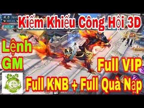 Game Private Kiếm Khiếu Công Hội 3D   Lệnh GM Add Full VIP - Full KNB + Vật Phẩm + Full Quà Nạp