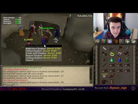 Curtis perspective on OSRS Ironman Kaylon Max total (Twitch clip with chat in description)