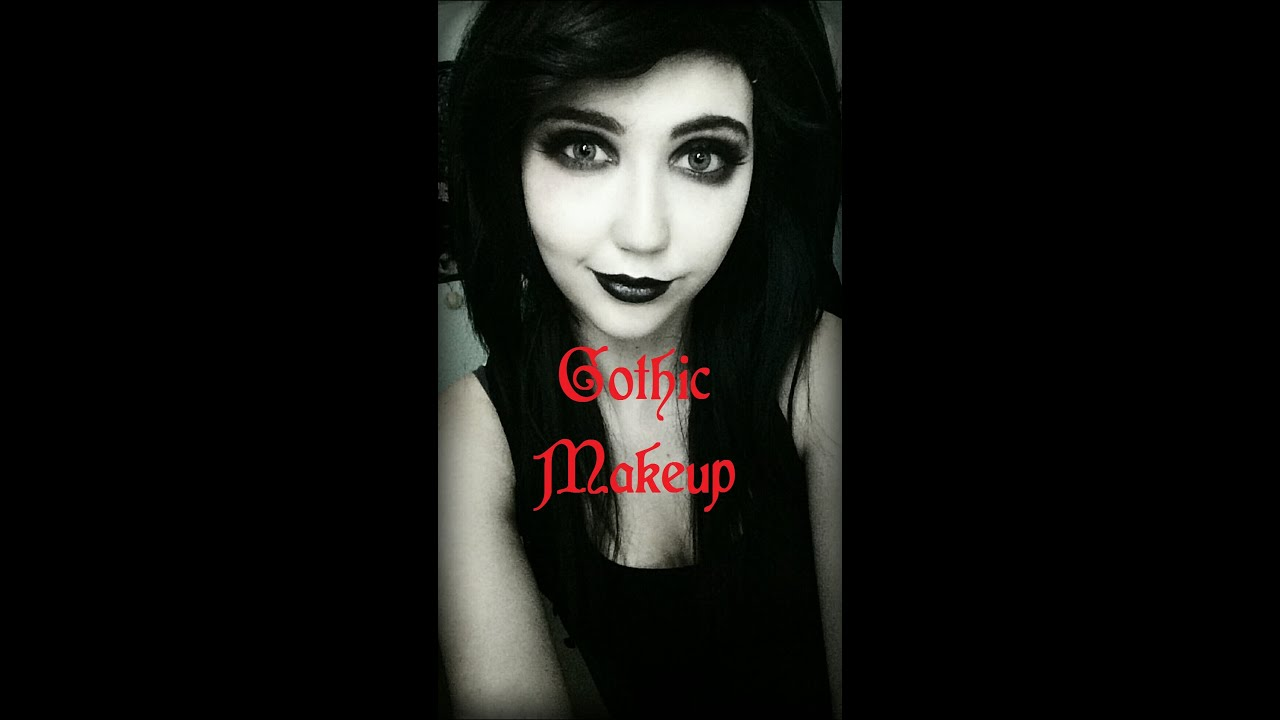 Youtube Makeup Tutorials Popular: Simple Gothic Makeup Tutorial
