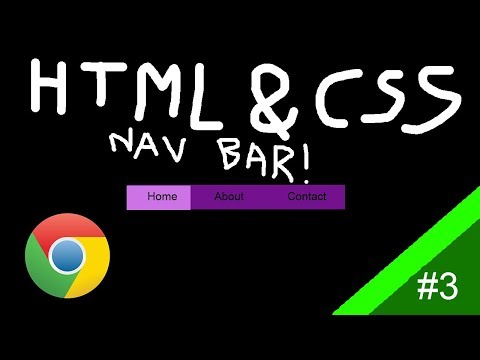 HTML & CSS | Navigation Bar! | Tutorial #3 thumbnail