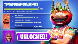 Unlocking the Tomatohead Crown!! (Fortnite Battle Royale)