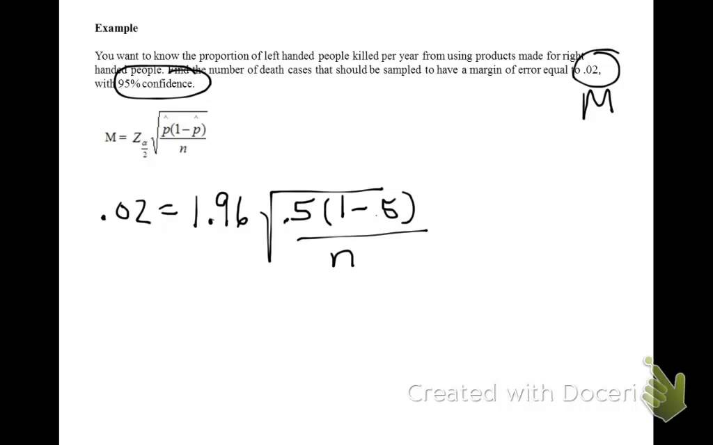 Determining Minimum Sample Size for Proportions - YouTube