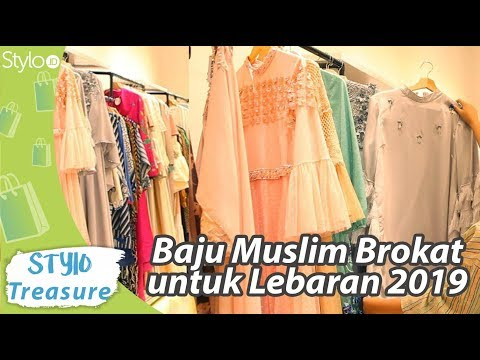 Gamis Brokat & Model Baju Muslim Hijab Mewah Untuk Lebaran Ramadan 2019 Di FX Sudirman