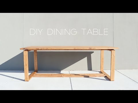 Modern Split-Top Dining Table | DIY | Modern Builds