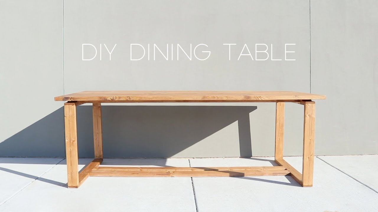 Modern split top dining table diy modern builds youtube for Diy dining table