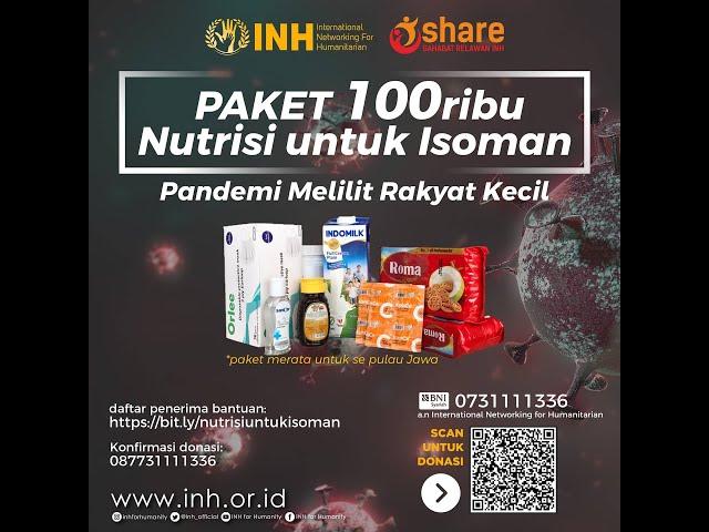1000 PAKET NUTRISI UNTUK ISOMAN - INH for Humanity