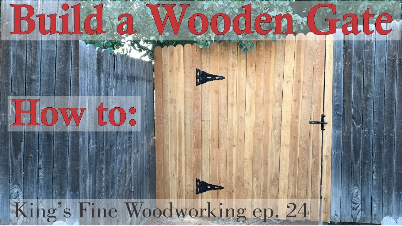 8 Foot Wooden Gate Plans