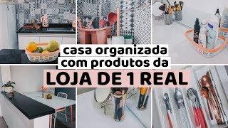 DECORAÇÃO e ORGANIZAÇÃO da casa com produtos da loja de 💵 1 REAL
