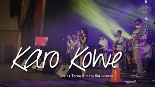 Download DERRADRU official - KARO KOWE live perform di taman budaya kulon progo