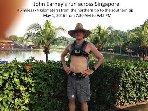 Solo ultramarathon across Singapore