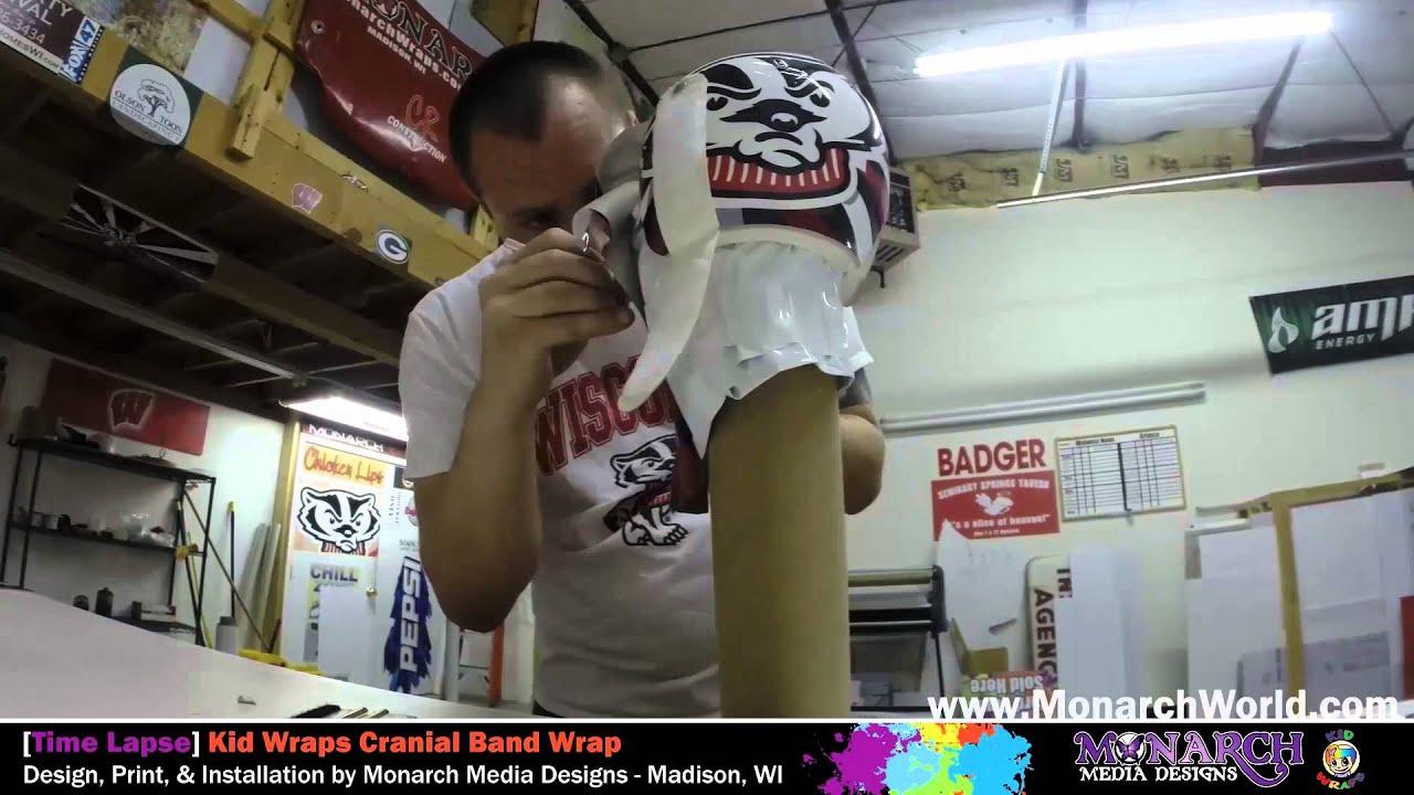 Kid Wraps By Monarch Cranial Band Wrap Time Lapse 1 Youtube