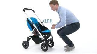 Easywalker June / MINI stroller : Put the seat on the frame Thumbnail
