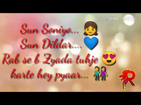 Sun Soniye Sun Dildar Hindi Song With Lyrics Youtube