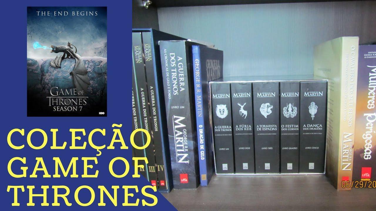 Livros Game Of Thrones Got Cronicas De Gelo E Fogo Youtube