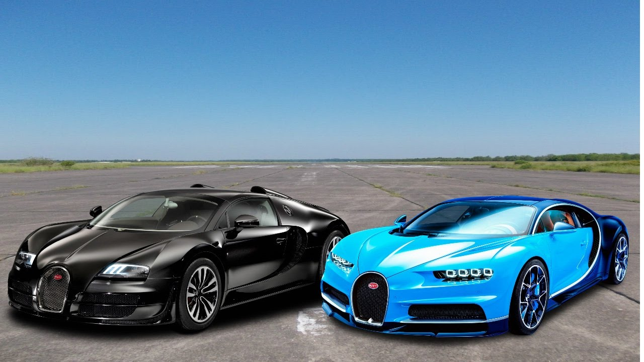 drag race bugatti veyron vs bugatti chiron youtube. Black Bedroom Furniture Sets. Home Design Ideas