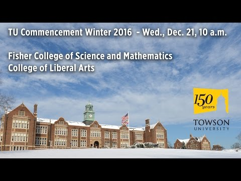 TU Commencement Winter 2016 - Wed., Dec. 21, 10 a.m.
