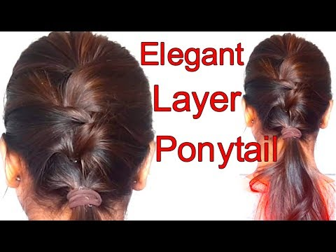Very Easy Layer Ponytail Hairstyle || Everyday hairstyle || hairstyle for school,College