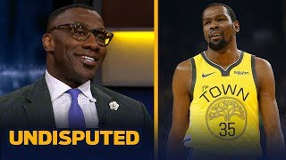 Shannon Sharpe and Skip Bayless discuss Shannon's recent statement saying that Kevin Durant will never be loved like Stephen Curry with Golden State ...